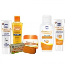 Pack, Gluta C Intense: Whitening Soins Corporel Complèts Anti-Imperfections.