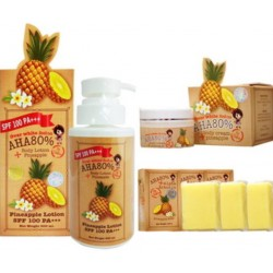 Pack, OVER White AHA 80 % Alpha Arbutin Pineapple, Lightening Spots Remove & Anti-aging.