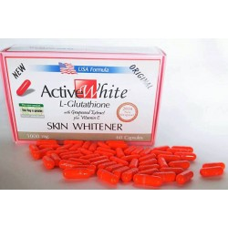 Active White L-Glutathione: Plus Vitamines C Gélules Eclaircissante.