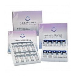 Relumins 2000MG - Glutathione Injections Whitening Multi-Vitaminés + Vit C Booster.