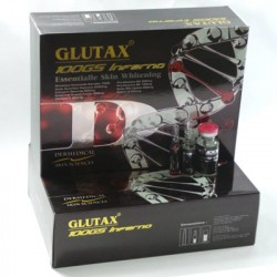 Glutax 100GS Inferno Glutahion Injections 100% Naturel Éclaircissante Made In Italya.